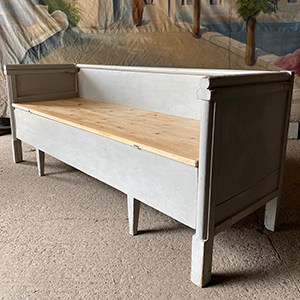 Original Swedish Painted Pine Bed Settle