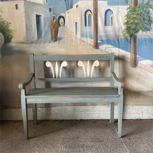 Painted Bench in Neo-Classical Style
