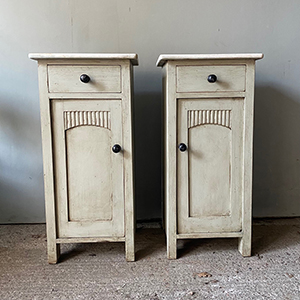 Pair of Pot Cupboards in Antique White