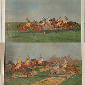 Pair of Steeplechase Coloured Prints by Herring