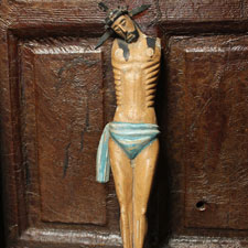 Primitive Christ Carved Figure