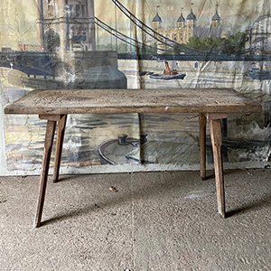 Primitive Country Oak Side or Work Table