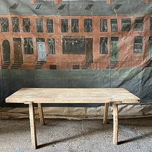 Primitive Sycamore Work Table