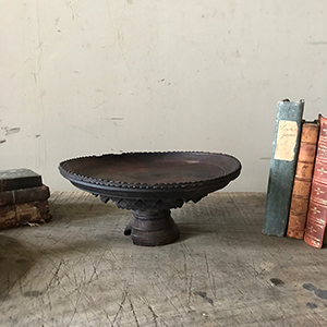Rare Carved and Turned Wooden Cake Stand