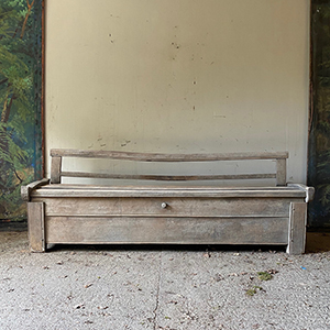 Rare Early Transylvanian Coffer amp Bench