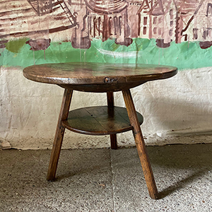 Rare Large Two-Tier Primitive Cricket Table