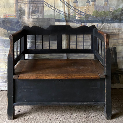 Small Antique Box Bench