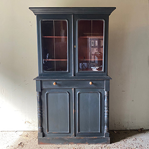 Smart Black amp Red Painted Pine Bookcase