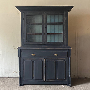Smart Black Painted Pine Cabinet or Bookcase
