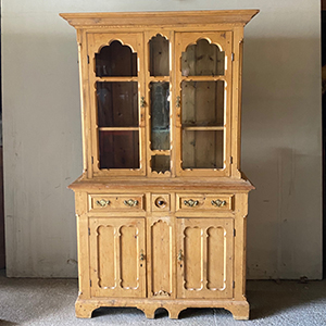 Superb Quality Victorian Pine Glazed Bookcase