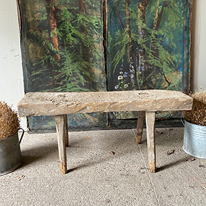 Thick-Topped Primitive Pig Bench or Table