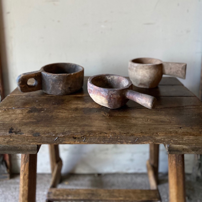Three Rare Shepherds Wooden Cups